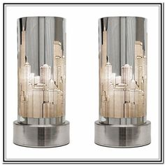 Contemporary Silver Table Lamps