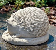 """Cast Stone Henry Hedgehog - Collectible Animal Concrete Indoor / Outdoor Garden Sculpture by Creative Structures. $36.98. Adorable Sculpture - Perfect For Any Animal Lover And For Children. Dimensions: 5.25"""" W x 3.5"""" H x 4.5"""" D - Item Weight: 3.5 Lbs. - Made In The USA. Unique And Whimsical Works Of Art By George At Carruth Studio. Extremely Innovative Creations That Breathe Life And Bring Joy And Whimsy To Your Home Or Garden. Hand Cast Stone, Weatherproof & Waterproof, Hand..."""