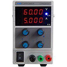 Skytoppower 0 60 V 0 5 A Alimentazione Dc Di Regolabile Laboratorio 4 Cifre Led Display Con Fili Di Uscita Ergasthria