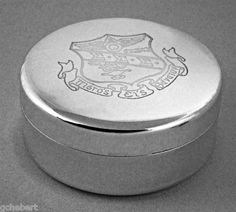 Tri Sigma  Engraved Crest Jewelry Box