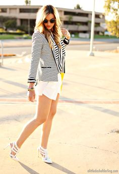 A Little Dash of Darling: Stripe Blazer