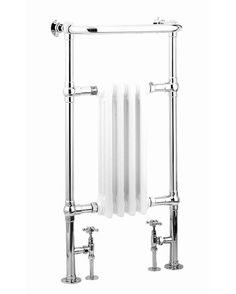 REINA ALICIA FLOOR MOUNTED TRADITIONAL HEATED TOWEL RAIL 960MM X 495MM