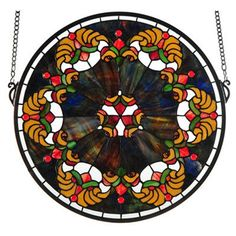 Meyda Tiffany 127106 X Middleton Medallion Stained Glass Window, Windows Stained Glass Art, Stained Glass Windows, Red Jewel, Crushed Glass, Steel Sculpture, Popular Art, Glass Company, Light Decorations, Christmas Decorations