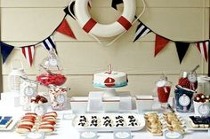 Nautical themed birthday party! Would be a cute first bday