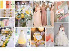 Dessy.com Inspiration Board - Lemon Sherbet