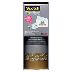 Scotch Washi Tape Silver Multi Pack : Target