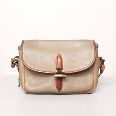 1980s Dooney and Bourke Purse  Tan Pebbled by OldFaithfulVintage, $30.00