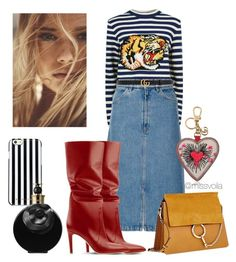 """""""Stripes"""" by missvoilafashion on Polyvore featuring Gucci, M.i.h Jeans, Chloé, MICHAEL Michael Kors and Valentino"""