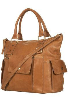 Large Washed Leather Holdall - Bags & Wallets - Accessories - Topshop USA