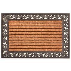HomeTrax Designs Ivy Leaf Cocoa Mat 24-inch x 36-inch (Ivy Leaf Cocoa)