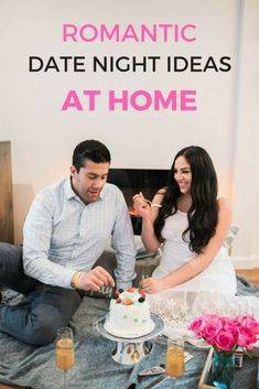 Romantic date night ideas at home, perfect after the kids go to bed or for nights you want to stay in but still want to have a romantic date night that's also budget friendly