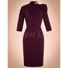 Úzke bordové retro šaty Dresses For Work, Formal Dresses, Retro, High Neck Dress, Fashion, Turtleneck Dress, Moda, Formal Gowns, La Mode