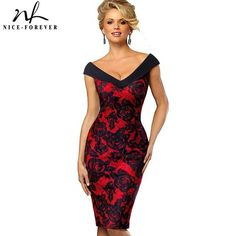 bc3e97d833b Vintage Contrast Color Flower Sexy Off Shoulder Business Party Bodycon  Sheath Women Dress. Casual Summer DressesDress ...