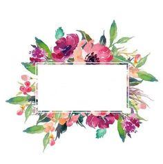 frames and borders Fyvfuh Flower Backgrounds, Wallpaper Backgrounds, Iphone Wallpaper, Wallpapers, Watercolor Flowers, Watercolor Art, Illustration Blume, Deco Floral, Floral Border