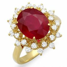 4.22 ct natural ruby and diamond Ring 14k gold Passion Gems. $2200.00. This is a Very High Quality Ruby and Diamond Ring. 4.22 ct natural ruby and diamond Ring 14k gold. Thick Gold and White Diamonds