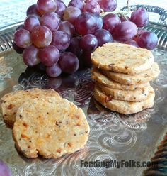 Feta, Sun-Dried Tomato, Olive Crackers | Feeding My Folks