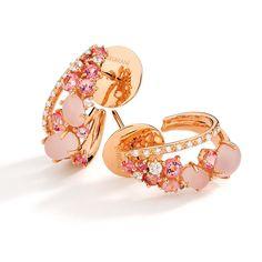 Brumani Baobab rose quartz and diamond earrings