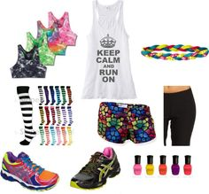 Colorful running gear for color runs...but you are banned if you don't have any white! ;) for the color run