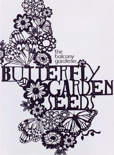 70's poster/advertisement. artist is unknown. I love the copy paste look to the letters, fits perfectly with the idea. #butterfly #poster #graphics
