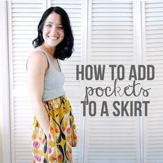 Shrimp Salad Circus: two ways to add pockets to a skirt . sewing 101