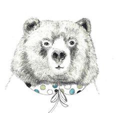 Mme ours  Illustration de l'ours  ours avec par corelladesign
