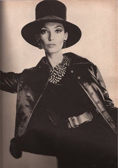 Sondra Peterson models Yves Saint Laurent for Vogue, 1962 - photo by Irving Penn
