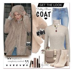 """Snuggle Up: Teddy Bear Coats"" by eula-eldridge-tolliver ❤ liked on Polyvore featuring Alice + Olivia, Autumn Cashmere, Nikon, Brika, Laura Mercier, Valentino, Gianvito Rossi, Prada, Arunashi and Lumière"