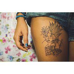 """Katuretê! TaTToo Acidum na pele de Amábile   Fortaleza 2015.  Foto: @viktorbraga  #TaTTooAcidum #Terezadequinta #TaTToo #ink #painting #tattoospecial…"""
