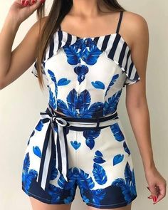 Shop Sexy Trending Rompers – Chic Me offers the best women's fashion Rompers deals Summer Outfits, Casual Outfits, Cute Outfits, Casual Attire, Look Fashion, Fashion Outfits, Womens Fashion, Two Piece Rompers, Fashion Clothes