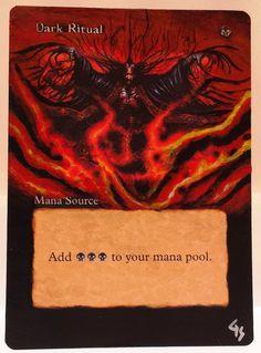 MTG Magic DARK RITUAL Battle Royal Hand Painted Altered Art Card OOAK #WizardsoftheCoast