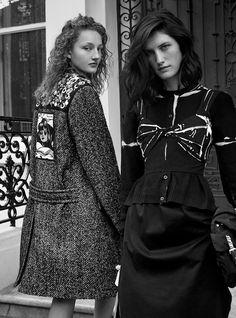 Harper's Bazaar UK April 2018 Agnes, Mila and Alexis by Agata Pospieszynska - Fashion Editorials
