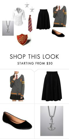 """""""Annemarie Uniform Fifth Year"""" by bookprincess-313 on Polyvore featuring Warner Bros., LE3NO, Brunello Cucinelli, Madden Girl, David Yurman and Sperry"""