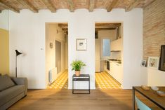 Barrel-vaulted ceilings and exposed brick walls evoke the heritage of this apartment in Barcelona, remodelled by local studio Nook Architects Interior Architecture, Interior And Exterior, Interior Design, Apartment Interior, Apartment Design, Nook Architects, Architects Journal, Barcelona Apartment, Mini Loft