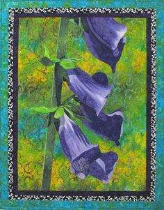 Purple Foxgloves Original Art Quilt by Lenore by LenoreCrawford, $350.00