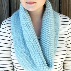 Knitted Faux Woven Cowl - Free Knitting Pattern