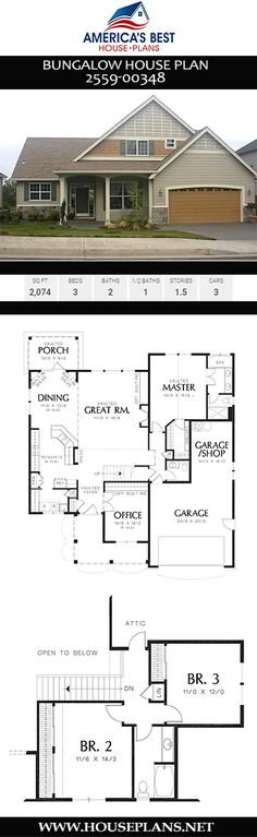 Bungalow House Plan Bungalow House Plan America s Best House Plans besthouseplans Bungalow House Plans A lovely Bungalow house Plan offers 2074 nbsp hellip Homes Plans open floor Open Floor House Plans, Porch House Plans, Lake House Plans, Basement House Plans, Bungalow House Plans, Craftsman Style House Plans, Best House Plans, Modern House Plans, Small House Plans