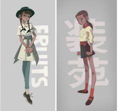 Em destaque, personagens da artista Anna Cattish   THECAB - The Concept Art Blog