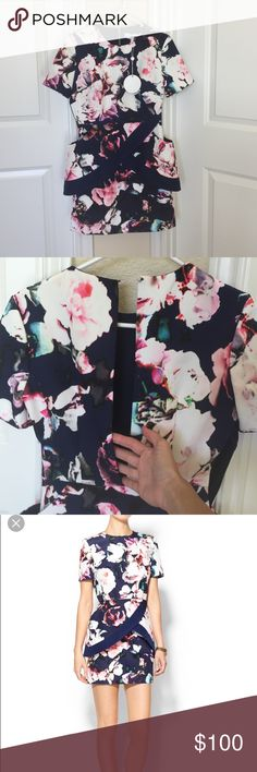 Finders Keepers Pursuit Dress Xs - navy & floral NWT never worn. Love this dress just never found a time to wear it Finders Keepers Dresses Mini