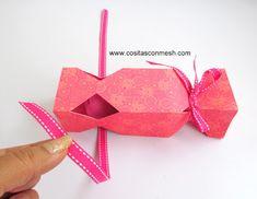 Cajitas de regalo con forma de caramelo las más faciles de hacer ~ cositasconmesh