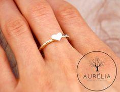 """Ringe - 18 K vergoldeter Ring """"Herz"""" gedreht - ein Designerstück von Aurelia-Pieces bei DaWanda"""