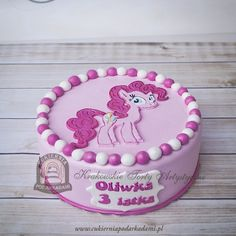 87BD. Tort z kucykiem Pinkie Pie. Pinkie Pie birthday cake - My Little Pony: Friendship Is Magic.