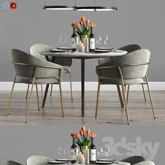 model: Furniture: Table and Chair Dinning Chairs Modern, Dinning Table Set, Dinning Tables And Chairs, Table For Small Space, Chairs For Small Spaces, Overstuffed Chairs, Furniture Catalog, Home Room Design, Decoration