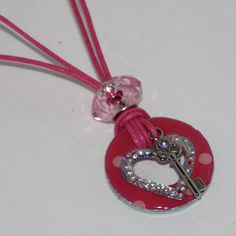Valentine Washer Necklace  With Key Charm to My Heart. $10.00, via Etsy.