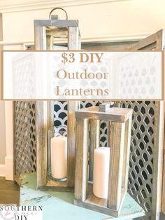 Porch Lanterns, Wooden Lanterns, Lanterns Decor, Do It Yourself Furniture, Do It Yourself Home, Diy Furniture, Diy Outdoor Furniture, Diy Porch, Diy Patio