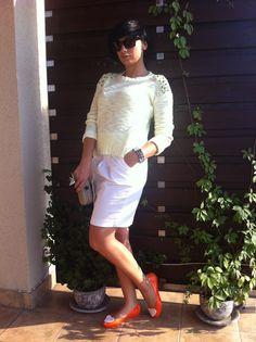 Skirt Reserved, Jumper Bershka, Shoes Merg.pl, Bracelet Cropp, Sun Glasses Brylove, Cutch Parfois