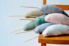 large narhwal  grey narwhal. They're just adorable. maybe after my dog goes through his chewing phase :p