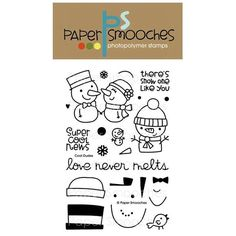 Paper Smooches COOL DUDES Clear Stamps NOS227