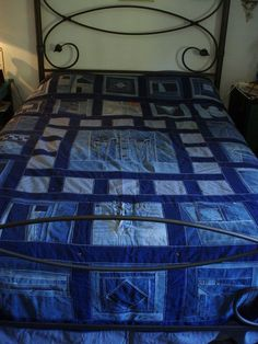 I made this quilt out my old jeans. by blackthorne56, via Flickr