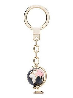 globe keychain by kate spade new york