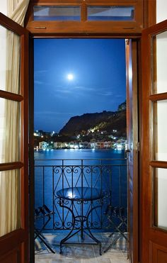 """♪ Moonlight Serenade ♪ ~ picturesque harbor of Kastellorizo (or """"Meghisti"""") island under a full moon. Kastellorizo is one of the most beautiful Greek islands. Dream Vacations, Vacation Spots, Oh The Places You'll Go, Places To Travel, Travel Destinations, Beautiful World, Beautiful Places, Simply Beautiful, Wonderful Places"""